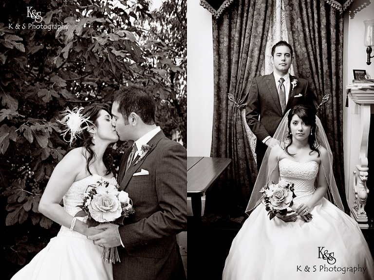 Sergio and Lacey's Wedding at the Bingham House in McKinney. Photographs by Dallas Wedding Photographer, K & S Photography