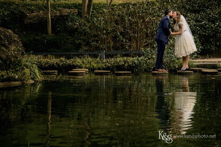 wedding at fort worth japanese garden