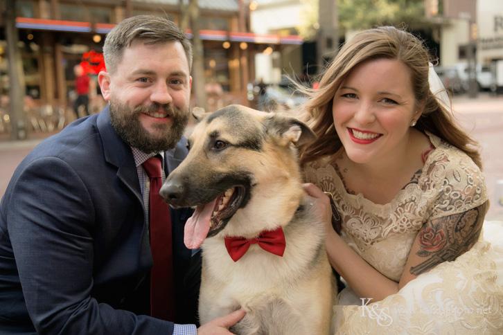wedding at sundance square fort worth